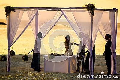 Beach Wedding During Sunset Free Public Domain Cc0 Image