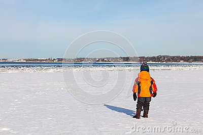 Beach at winter