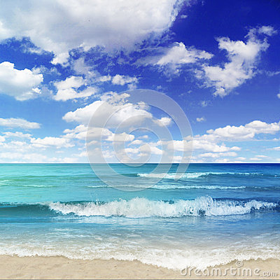 Free Beach With Breakers Stock Image - 35390251