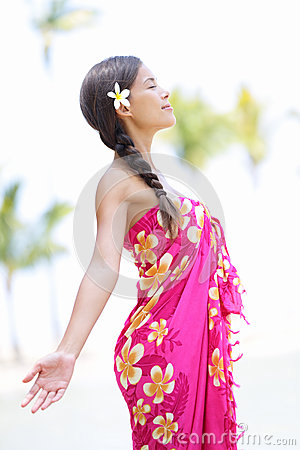 Beach woman on Hawaii
