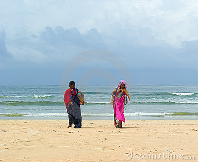 Beach women sellers. Goa Editorial Photo