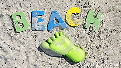 Beach written