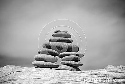 Beach Zen Stone Pile