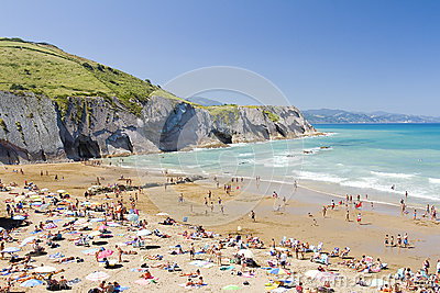 Beach of Zumaia, Spain Editorial Photography