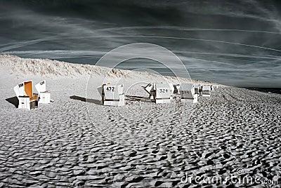 Beachchairs. Infrared.