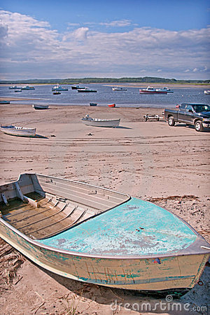 Beached Boats at Low Tide