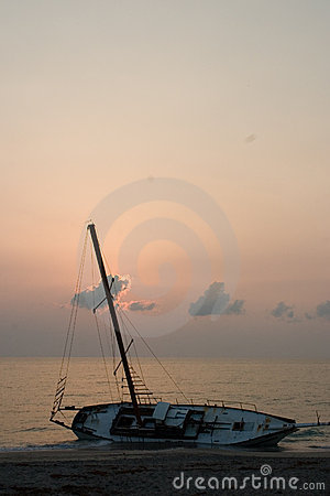 Free Beached Sailboat Shipwreck II Stock Image - 2402491