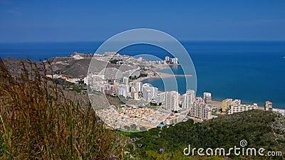 Beaches around Cullera, Province Valencia stock video