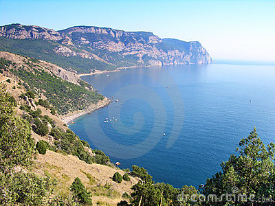 Beaches of Balaklava town, Crimea