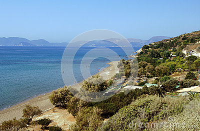 Beaches on the coast of the island Zakyntos