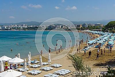 The beaches on the coastline Editorial Stock Image