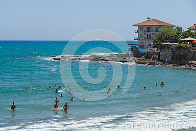 The beaches on the coastline Editorial Stock Image