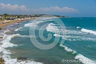The beaches on the coastline Editorial Stock Photo