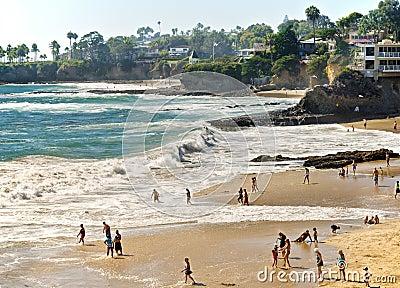 Beaches and Coves, Laguna Beach California Editorial Image