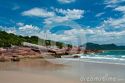 Beaches in Florianopolis, Brazil