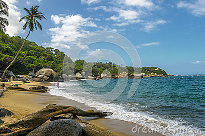 Beaches of Tayrona national park, Colombia