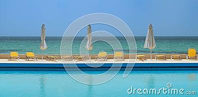 Beachfront swimming pool