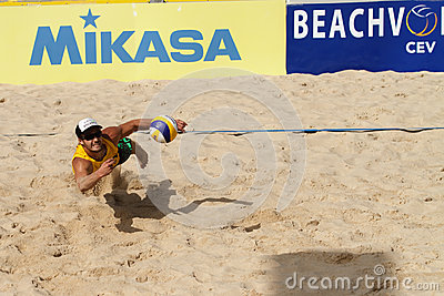 BeachVolley - Lausanne Satellite CEV 2012 Editorial Photography