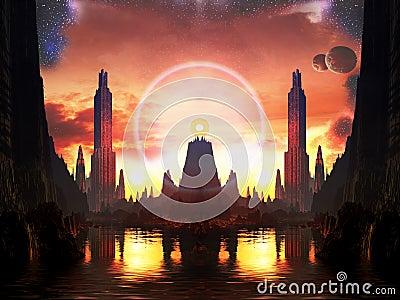 Beacon of Light in Alien Metropolis