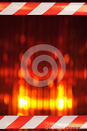 Free Beacon Light With Barrier Tape Royalty Free Stock Photography - 41967077