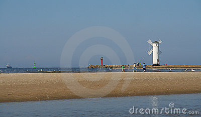 Beacon in Swinoujscie