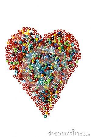 Free Bead Heart Stock Photography - 1684262