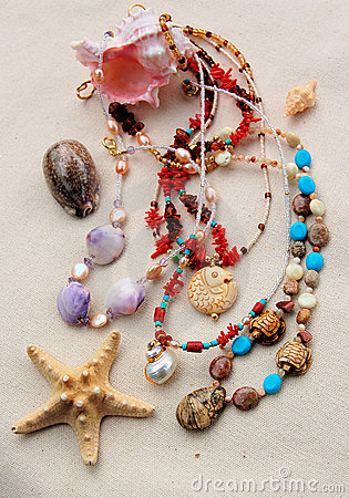 Free Beading Treasures From The Sea Royalty Free Stock Photos - 11540508