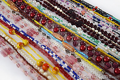 Beads strings background