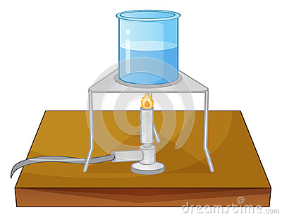 Beaker and burner