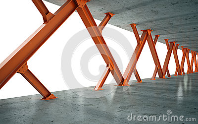 Beams and concrete structure