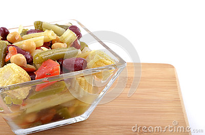 Bean and baby corn salad