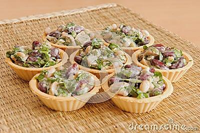 Bean Salad with Mushrooms