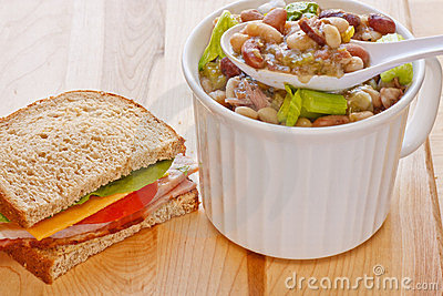 Bean Soup and Half Ham Sandwich