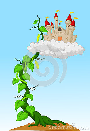Free Bean Sprout With Castle In The Clouds Royalty Free Stock Photo - 45746635