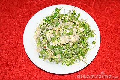 Bean sprouts almond