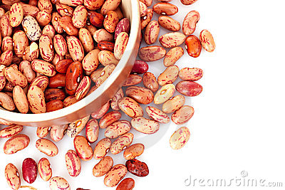 Beans in bowl isolated