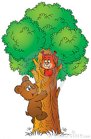 Free Bear And Squirrel Royalty Free Stock Images - 1966619