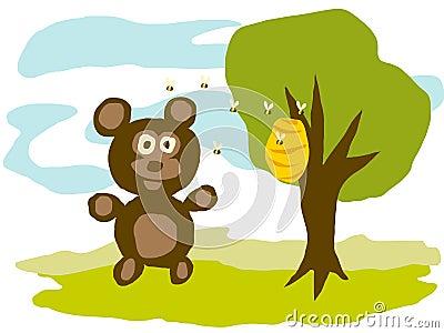 Bear and Bees