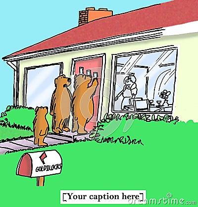 Free Bear Bets Goldilocks Will Serve Porridge Royalty Free Stock Images - 29383069
