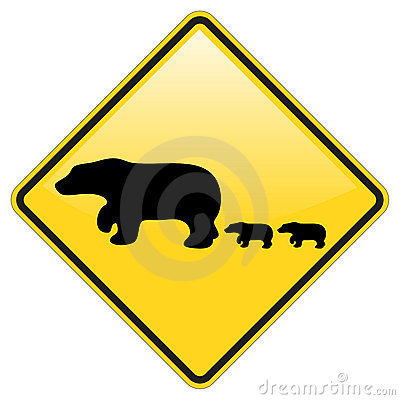 Bear Crossing Warning