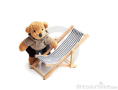 Bear and deckchair