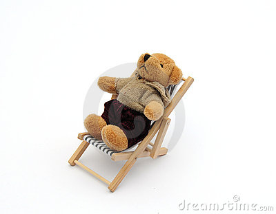 Bear in deckchair
