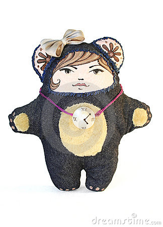 Bear doll isolated