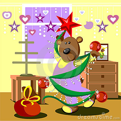 Bear dresses fir tree 21