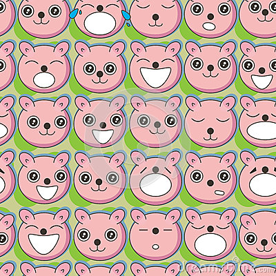 Bear Faces Seamless Pattern_eps