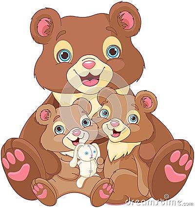 Free Bear Family Royalty Free Stock Photo - 53125315
