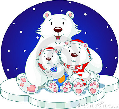 Bear_family Royalty Free Stock Photography - Image: 7200247