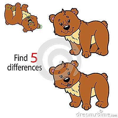 Bear game Vector Illustration