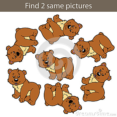 Bear game Vector Illustration