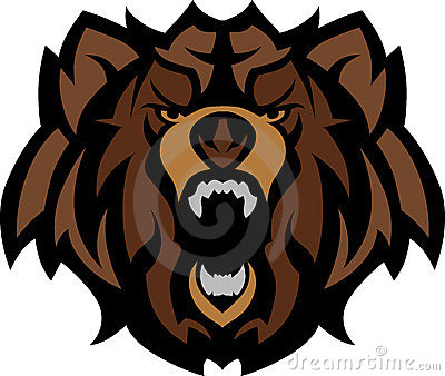 Bear Grizzly Mascot Head Vector Graphic
